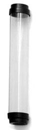 EPCO 17090 TUBE GUARD; CLR, T12, 8FT (F96), BLK END CAPS