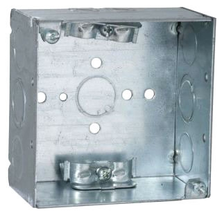 242 STEEL 4 SQUARE 2 1/8 DEEP ROMEX BOX 30.3 CUBIC INCHES 250 VOLT RATED 52171N (T&B) QTY 1/25
