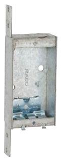 404 STEEL 1 GANG 1 DEEP NEW WORK BOX 6.5 CUBIC INCHES 55QV (T&B) QTY 25