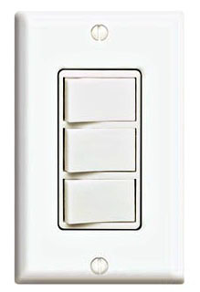 1755W DECORA TRIPLEX SWITCH WHITE QTY 1/10