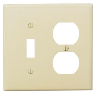 80705I 2 GANG SWITCH DUPLEX WALL PLATE IVORY QTY 1/25