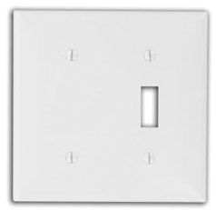 80706W 2 GANG SWITCH BLANK WALL PLATE WHITE QTY 1/25