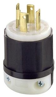 2711 30 AMP 125/250 VOLT 3 POLE 4 WIRE TWIST LOCK PLUG NEMA L14-30P QTY 1 (LEVITON)