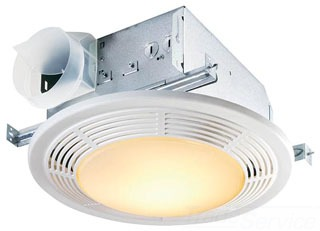 8664RP FAN/LIGHT 100 CFM 3.5 SONES USES 100 WATT LAMP NOT INLUDED CEILING MOUNT ROUND WHITE GRILLE QTY 1