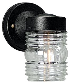 P560231 MINI JAR LIGHT OUTDOOR BLACK QTY 1