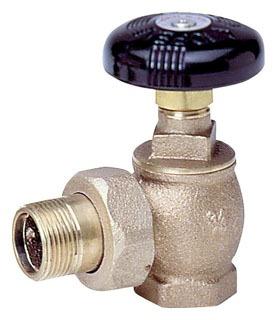 "Watts 67621 3/4"" Nptxmale Union 60Psi Bronze Hot Water Angle Valve"