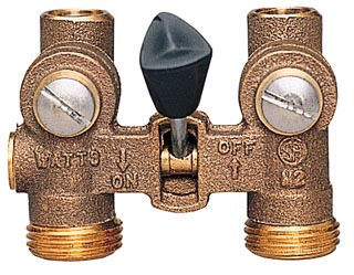 """Watts 6644 1/2"""" Solder/Compressionxsolder/Compression 150Psi Brass Manual Ball Type Washing Machine Shut-Off Valve"""