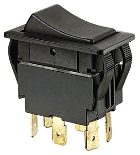 IDE 774040BK ROCKER SWITCH,IDEAL,FULL-SIZE,ON-OFF-ON,C/ US RU LISTED,125,227 VAC,20,15 AMP,BLK