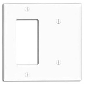 80708I 2 GANG BLANK DECORA WALL PLATE IVORY QTY 1/10
