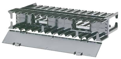 PAND NCMH2 HORIZONTAL CABLE MANAGER FRONT AND REAR