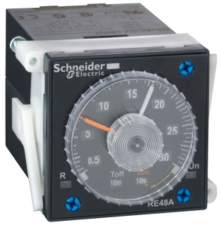 SQD RE48ATM12MW TIMER 250VAC 5AMP RE48 +OPTIONS