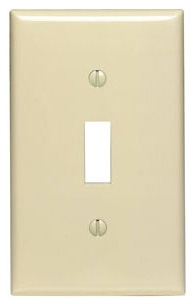80701I 1 GANG SWITCH WALL PLATE IVORY QTY 1/20
