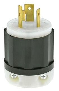 2311 20 AMP 125 VOLT 2POLE 3WIRE TWIST LOCK PLUG NEMA L5-20P QTY 1 (LEVITON)