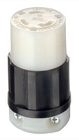 2613 30 AMP 125 VOLT 3 WIRE TWIST LOCK CONNECTOR NEMA L5-30C QTY 1 (LEVITON)