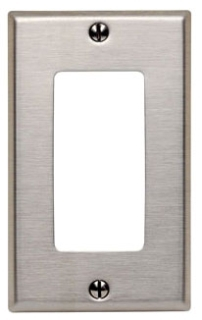 8440140 1 GANG DECORA WALL PLATE STAINLESS STEEL QTY 1/10