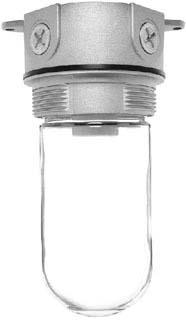 RAB VX100 VAPOR PROOF 100 CEILING 4 BOX 1/2 WITH GLASS GLOBE