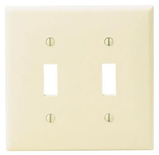 80709W 2 GANG SWITCH WALL PLATE WHITE QTY 1/25