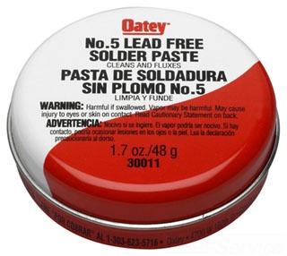Oatey 30014 8Oz Amber Paste Soldering Flux