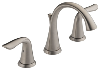 Delta 3538-SSMPU-DST Lahara Two Handle Widespread Lavatory Faucet in Stainless