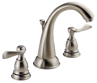 Delta B3596LF-SS Foundations Two Handle Widespread Lavatory Faucet in Stainless