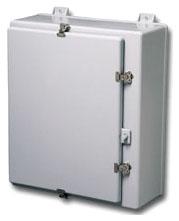 B-L 483612-4XF TYPE 4X FIBERGLASS WALL-MOUNT SINGLE DOOR ENCLOSURE, 48X36X12