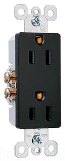 TM885BK 15A 125V DERCORA DUPLEX BLACK QTY 10/200