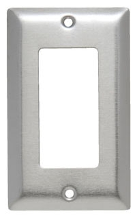 SS26 1 GANG DECORA WALL PLATE STAINLESS STEEL (PASS) QTY 1/20