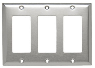 SS263 3 GANG DECORA WALL PLATE STAINLESS STEEL (PASS) QTY 1