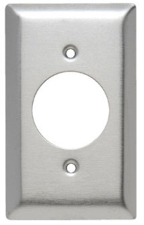 SS720 1 GANG DEVICE RECEPTACLE WALL PLATE STAINLESS STEEL (PASS) QTY 1/20