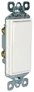 TM870W 15A 125V SINGLE POLE DECORA SWITCH WHITE QTY 10/100