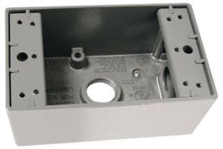 PAS WPB35 1G WP BOX W/5 3/4 HUBS
