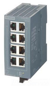 SIEM 6GK50080BA001AB2 SCALANCE XB008 UNMANAGED INDUSTRIAL ETHE