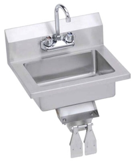 """Elkay EHS-18-KVX 18"""" X 14.5"""" 11"""" Stainless Steel 3-Hole 4"""" Center 1-Bowl Hand Sink"""