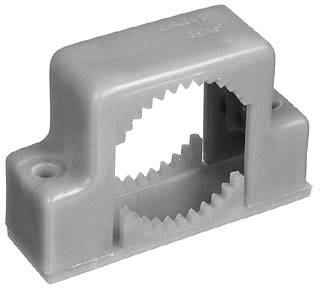 """E978JC-CAR 2"""" INCH 2 HOLE CONDUIT SUPPORT SNAP STRAP QTY 1/10"""