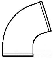 """No Hub 7357 4"""" X Xno Cast Iron 45D Eighth Bend"""