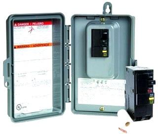 SQD QOE250GFINM ENCLOSED CIR BRKR 120/240VAC 50AMP GFCI