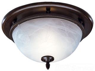 BRO 754RB DECORATIVE OIL-RUBBED BRONZE LIGHT/FAN WHITE ALABASTER GLASS