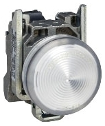 SQD XB4BVG1 WHITE PILOT LIGHT