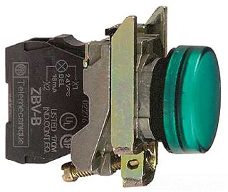 SQD XB4BVG3 GREEN LED 110-120V PILOT LIGHT