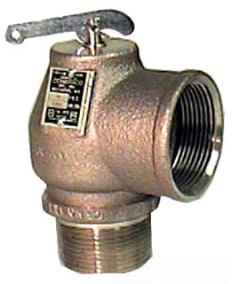 "Walrich 1727008 15Psi 2"" Standard Side Outlet Pop Boiler Relief Valve"
