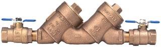 (NS) 2 WILKINS 950XLT2 DUAL CHECK BACKFLOW PREVENTER