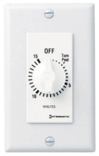 FD15MWC 15 MINUTE SPRING WOUND IN WALL TIMER WITHOUT HOLD WHITE QTY 1