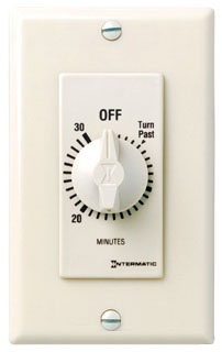 FD30MAC 30 MINUTE SPRING WOUND IN WALL TIMER WITHOUT HOLD ALMOND QTY 1