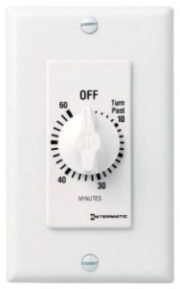 FD60MWC 60 MINUTE SPRING WOUND IN WALL TIMER WITHOUT HOLD WHITE QTY 1
