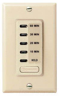 INTM EI210 ELECTRONIC AUTO-OFF TIMER 10/20/30/60 MINUTE WITH HOLD IVORY