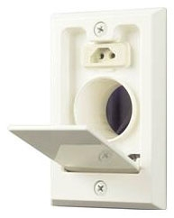 CI358IV DIRECT CONNECT WALL VALVE (ELECTRIFIED) IVORY