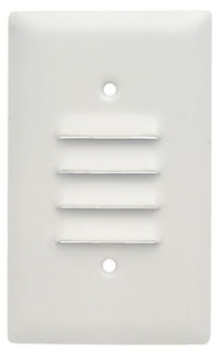 SS771W 1G LOUVRE VERTICAL PLATE WHITE QTY 15