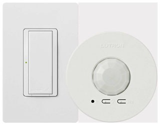 LUT MRF2-1S8A-1OC MASETRO WIRELSS WALL SWITCH W/ CEILING MOUNT WHITE