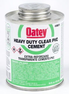 Oatey 31008 32Oz Can Clear Heavy Solvent Cement