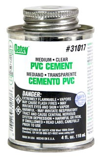 Oatey 31017 4Oz Can Clear Medium Solvent Cement